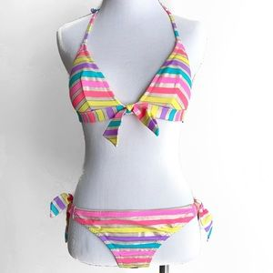 Victoria's Secret Neon Striped Bikini